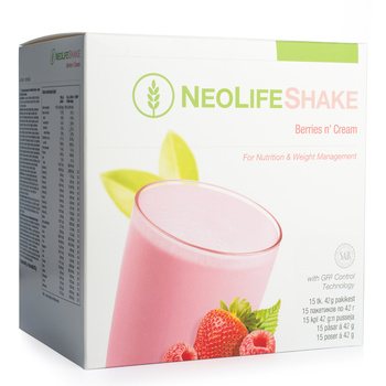 NeoLifeShake Berries n' Cream, Meal Replacement Protein Shake, less sugar