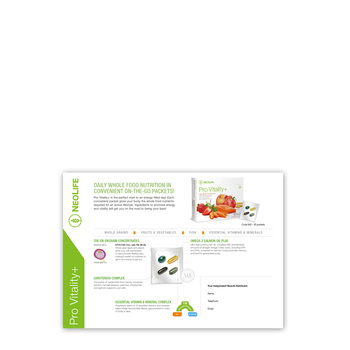Sampling Card Pro Vitality, in-house made colour copies / set of 15